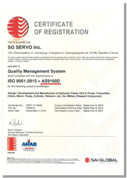 SG servo - General hydraulic devices, SERVO hydraulic